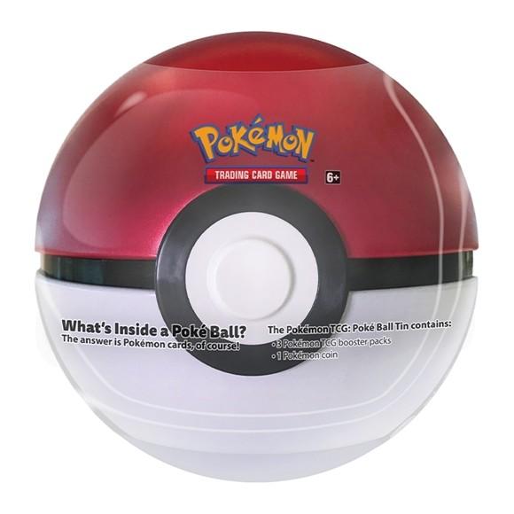 Pokemon - Tin PokeBall including 3 Booster Packs (Pokemon Kort)