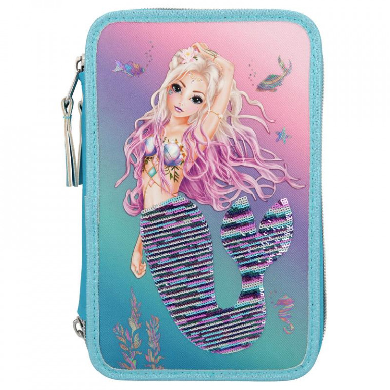 Top Model - Fantasy Model - Triple Pencil Case w/Sequins - Mermaid (410978)