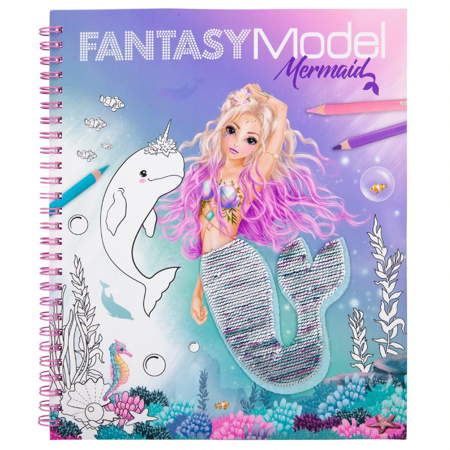 Top Model - Fantasy Model - Colouring Book w/ Sequins - Mermaid (411153)
