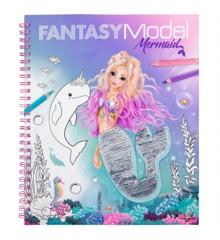 Top Model - Fantasy Model - Malebog med pailetter - Havfrue