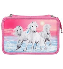 Miss Melody - Triple Pencil Case - Glitter Pink (410110)