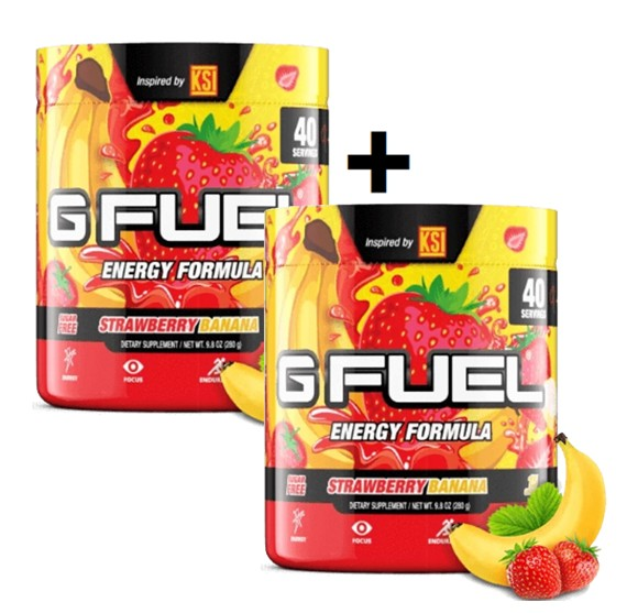 G Fuel - KSI Strawberry Banana 2 Pack - Bundle