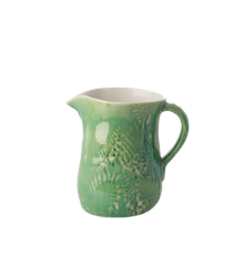 Rice - Ceramic Jug - Embrossed Green