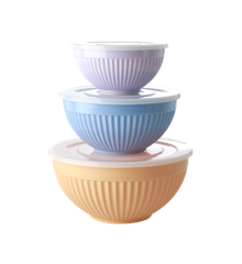 Rice - Melamine Bowls with Lid 3 pcs - Let's Summer 2