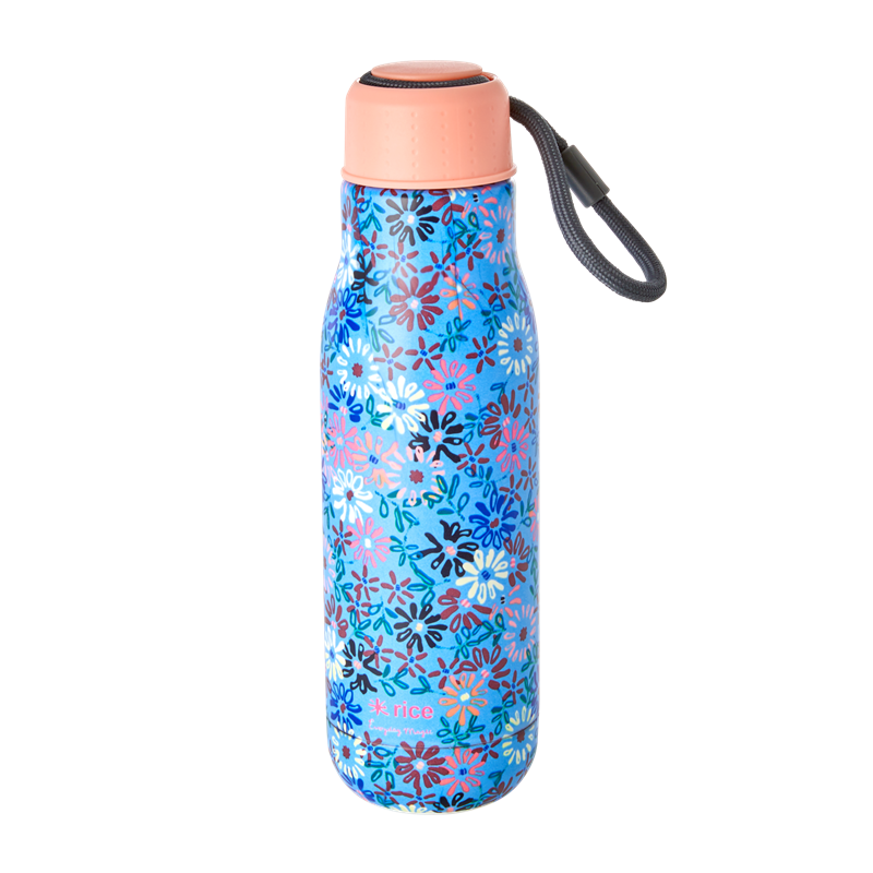 Rice - Stainless Steel Thermo Drinking Bottle 500 ml - Small Flower