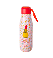 Rice - Stainless Steel Thermo Drinking Bottle 500 ml - Small Flower and Lipstick