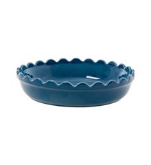 Rice - Stoneware Pie Dish - Dark Blue S