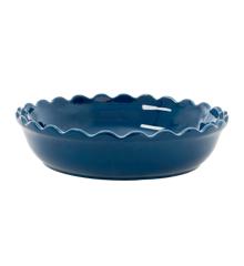 Rice - Stoneware Pie Dish - Dark Blue L