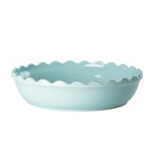 Rice - Stoneware Pie Dish - Mint L
