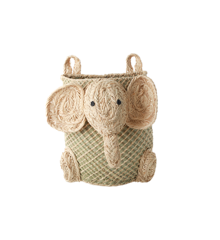 Rice - Hanging Seagrass Storage Basket - Elephant