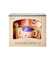Rice - Melamine Baby Dinner Set Giftbox - Pink Bunny
