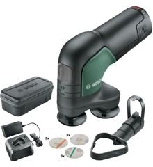 Bosch - EasyCurvSander 12 - Batteridrevet poleremaskine (Batteri inkluderet)