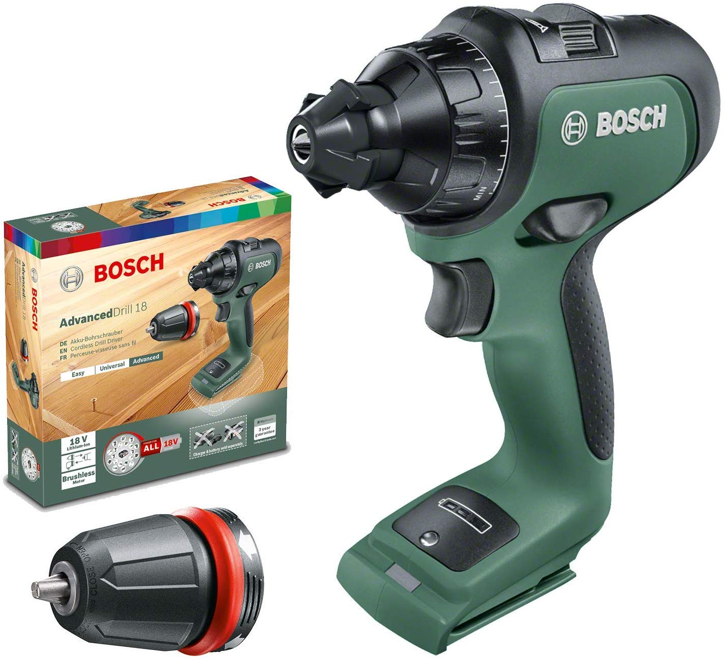 Bosch - AdvancedDrill 18 cordless screwdriver (Battery not included)