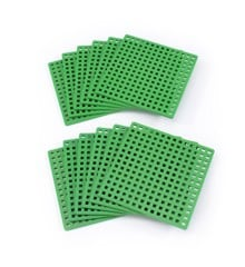 Plus Plus - 12 Green Basic Baseplates (3387)