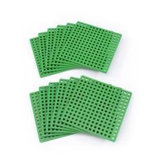 Plus Plus - 12 Grønne Basis byggeplader (3387)