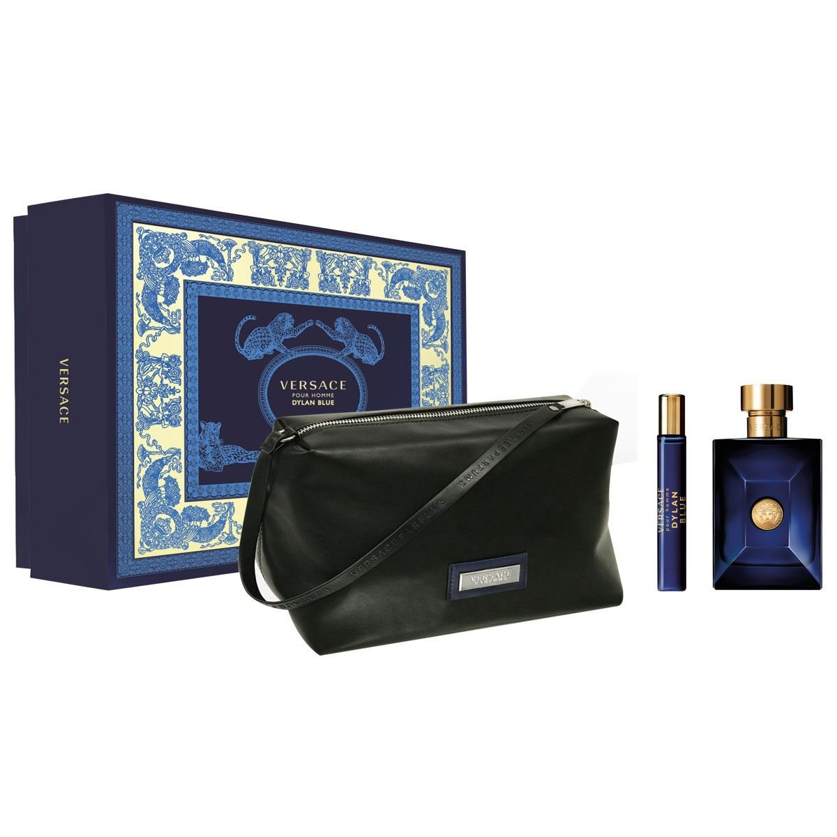 Versace - Dylan Blue EDT 100 ml + EDT 10 ml + Pouch - Giftset