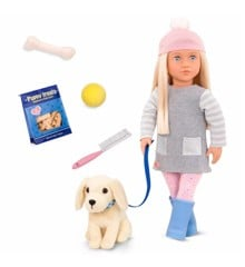 Our Generation - Meagan dukke med Golden Retriever (731242)