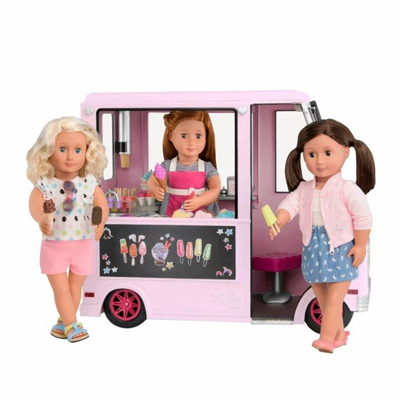 Our Generation - Sweet Stop Ice Cream Truck, Pink (737363)