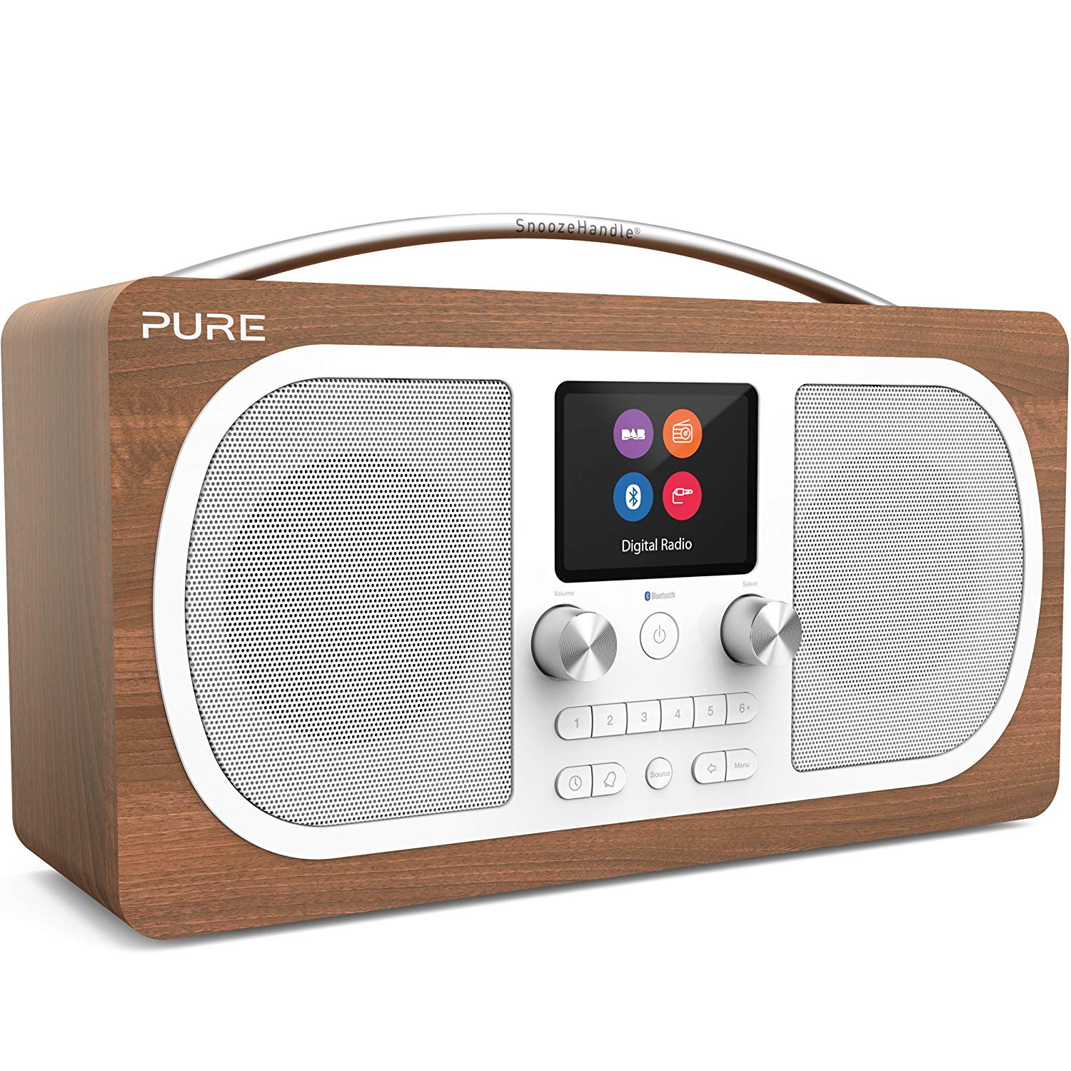 Pure - Evoke H6 DAB+ Radio - Walnut