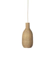 Ferm Living - Braided Bottle Lampeskærm Ø 18 cm - Natural