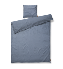 Juna - Spiga Sengetøj140 x 200 cm - Støvet Blå