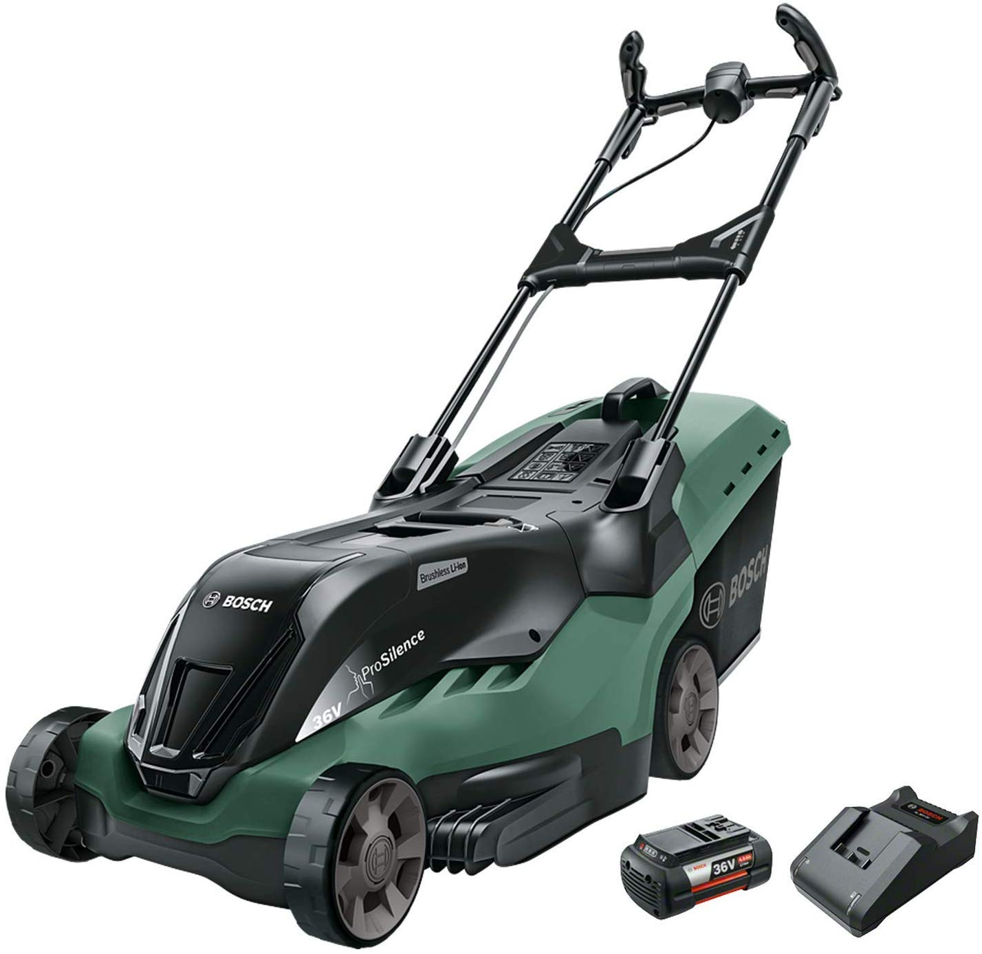 Bosch - Rotak 750 LI Hochleistungs-Akku-Rasenmäher (Akku und Ladegerät enthalten)