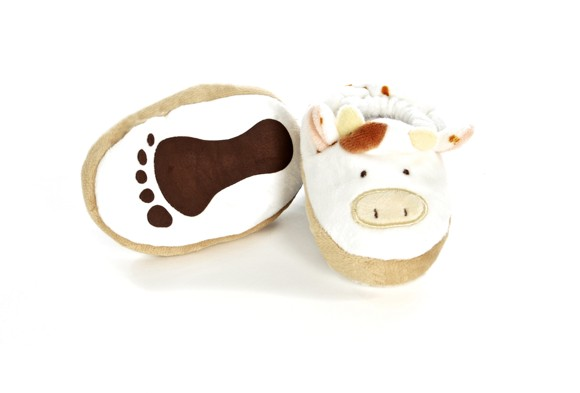 Diinglisar - Baby Slippers - Cow (TK16373)