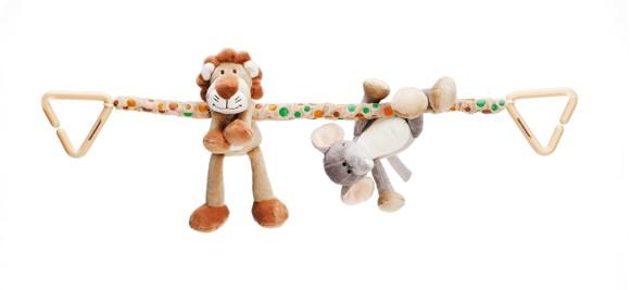 Diinglisar Wild - Baby Stroller Chain - Lion & Elephant (TK2063)