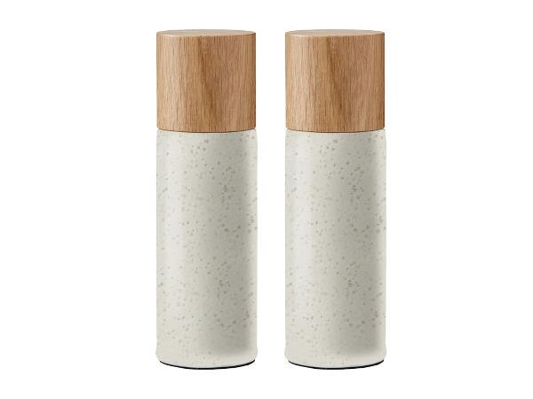 Bitz - Salt&Pepper Grinders Set - Matt Creme (11347)