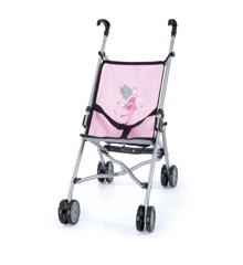 Bayer - Dukke Klapvogn - Pink/Grå