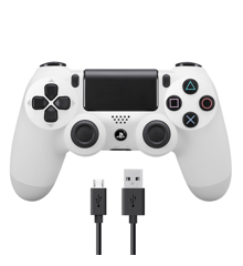 Neuer Sony Dualshock 4 Controller v2 - Weiß + COOLGEAR - USB to Micro USB 3m Charge Cable