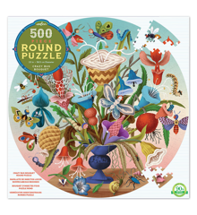 eeboo - Round Puzzle - Flower Bouqet, 500 pc (EPZFCZB)