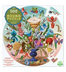eeboo - Rundt puslespil - Flower Bouqet, 500 brikker (EPZFCZB)