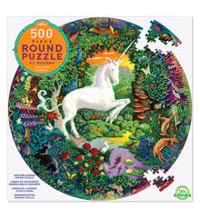 eeboo - Round Puzzle - Unicorn, 500 pc (EPZFUNG)