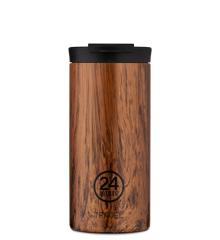 24 Bottles - Travel Tumbler 0,6 L - Sequoia Træ Print