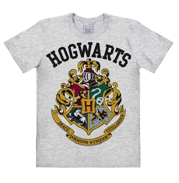 Harry Potter - Hogwarts Logo - Easyfit - grey melange - Original licensed product