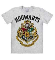 Harry Potter - Hogwarts Logo - Easyfit - grey melange - Original licensed product