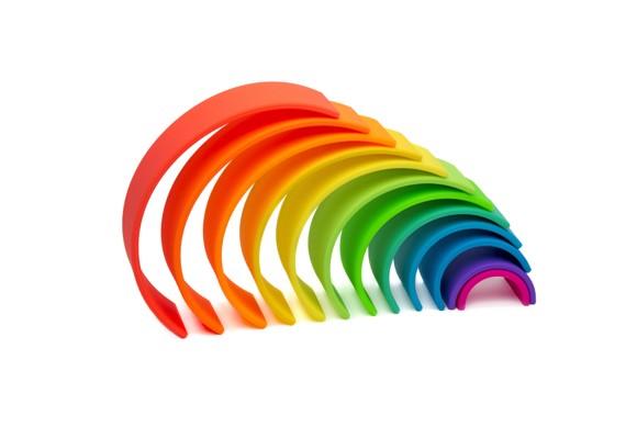 Dëna - Large Rainbow, Neon, 12 pc
