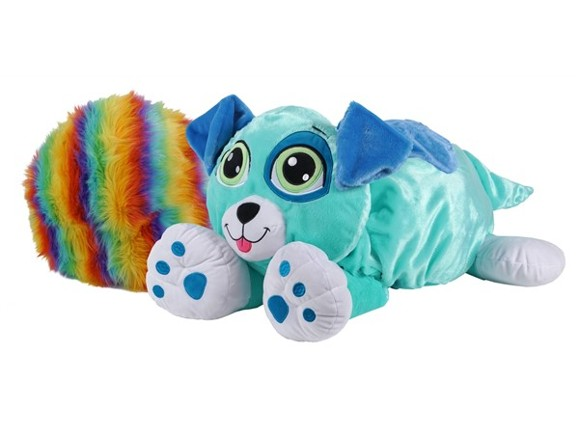 Rainbow Fluffies - Stor - Blå Hund