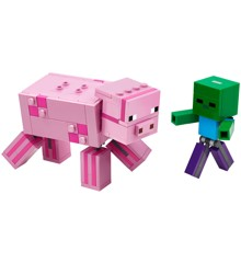LEGO Minecraft - BigFig Pig with Baby Zombie (21157)
