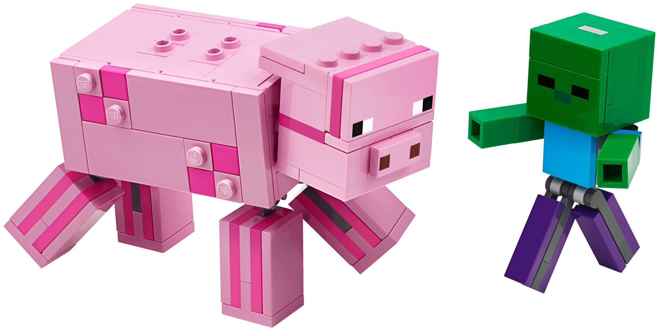 LEGO Minecraft - BigFig Schwein mit Zombiebaby (21157)