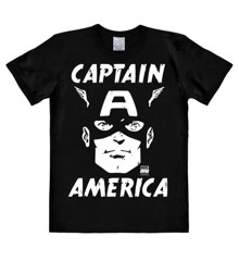 Marvel - Captain America - Portrait - Easyfit - black - Original licensed product