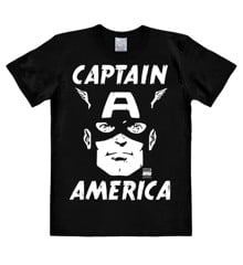 Marvel - Captain America - Portrait - Easyfit - black - Original licensed product
