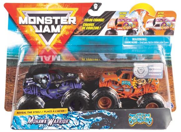 Monster Jam 1:64 2 Pakke - Mohawk Warrior & Jester
