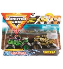 Monster Jam 1:64 2 Pakke - Grave Digger & MAX-D