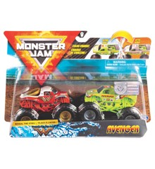 Monster Jam 1:64 2 Pakke - Wonder Woman & Avenger