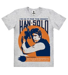 Star Wars - Han Solo - In It For The Money - Easyfit Organic - grey melange - Original licensed product