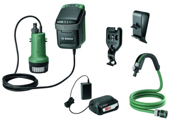 Bosch - Akku havepumpe 18V - Lader og batteri inkluderet