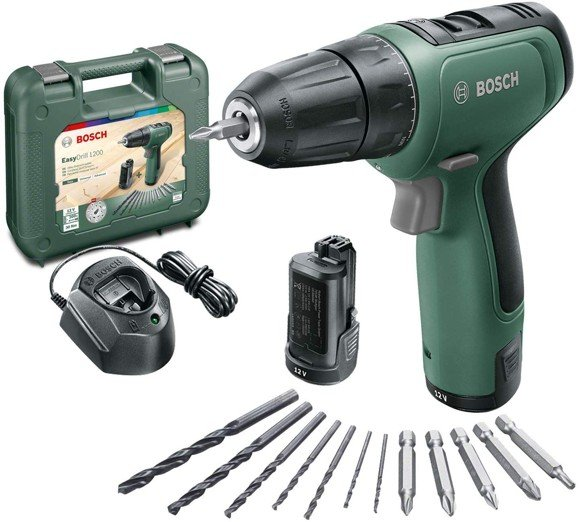 Bosch - Cordless Drill EasyDrill 1200 (2x Battery included)