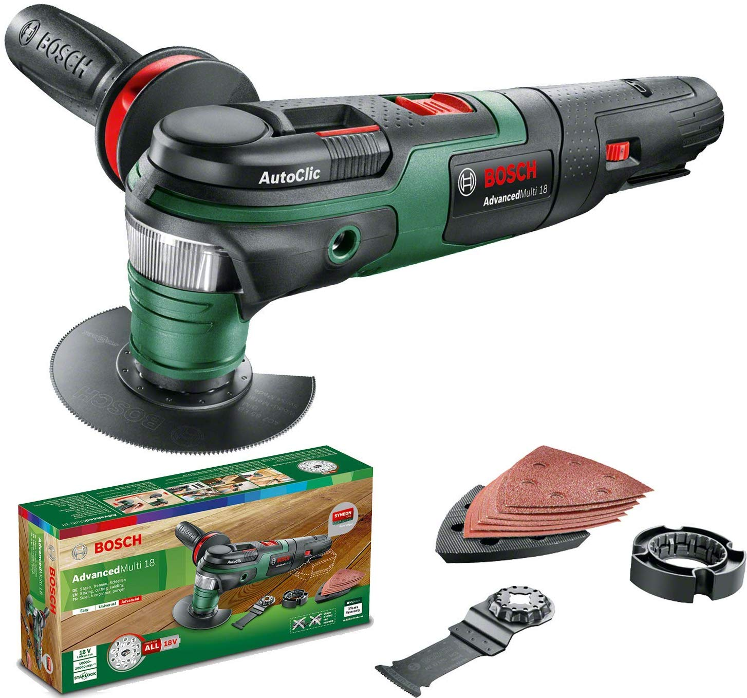 Bosch - Battery Multifunctional Tool AdvancedMulti 18 (Battery not included)